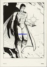 MOEBIUS SUPERMAN 1984 DC COMICS FINE ART PRINT - MOBIUS JEAN GIRAUD MAN OF STEEL