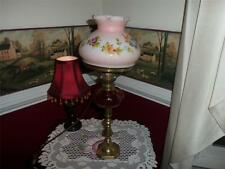 RARE HAND MADE BRASS, RUBY RED, HAND PAINTED LAMP A MUST SEE ITEM!