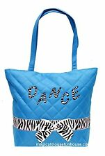 Girls Turquoise Zebra Dance Tap Tote Bag New
