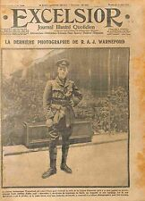 Photographie Aviator Lieutenant Reginald Warneford Légion d'Honneur WWI 1915