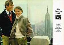 PUBLICITE ADVERTISING 104  1981  THE BURBURRY LOOK   pret à porter ( 2pages)