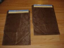 """( Lot  of 2 ) ~  Fancy Brown  Fabric Table Runner Runner's 12""""x72""""  NWT"""