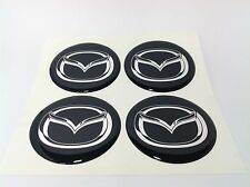 4pcs MAZDA 64 mm 3D Wheel center caps Emblem Sticker Decal Badge Silicone