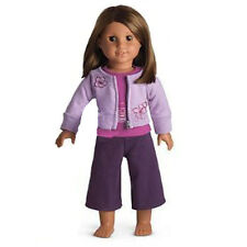 "American Girl JLY YOGA GEAR no mat no book for 18"" Dolls Retired Purple NEW"