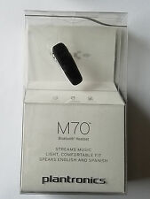 Unused Plantronics M70 Wireless Bluetooth Headset - Black - Retail Packaging