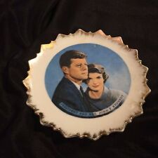 President & Mrs John F Kennedy Collectible Wall Hanging Plate by Bradley Japan