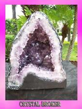 Amethyst Geode Cathedral Super Quality w/ Rainbows in the Pretty Face     A-618