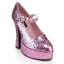Demonia Dolly-50 Pink Glitter Womens Sz 6 Mary Jane Platforms New Free Shipping!