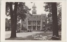 Ohio Postcard MEDINA County c1940s MEDINA COUNTY COURT HOUSE Real Photo RPPC
