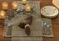 Placemat - Tweed in Espresso by Park Designs - Kitchen Dining Brown Tan Ivory