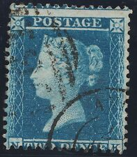 1855 2d  Blue SG23 SpecF2 Plate 4 (NK)  Fine Used Good Perforations