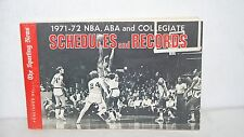 Sporting News 1971 - 72 Schedules and Records NBA ABA Collegiate NCAA Basketball