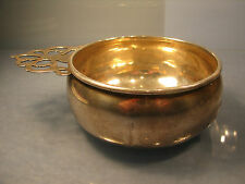 Solid silver Quaich Wine taster USA American Silver new jersey makers H
