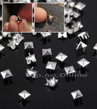 200pcs Punk Rock Rivet Clous Stud Pyramide Pr Chaussures Customisation vêtement