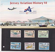 JERSEY PRESENTATION PACK 1997 AVIATION HISTORY VI AIRPORT STAMP SET 10% OFF 5+