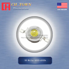 10PCS 1W Watt High Power White 6000-6500k LED Diodes Lamp Beads Bulb Chip