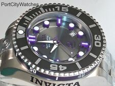 Invicta Mens Gen II Stainless Steel Automatic Charcoal Dial Purple Accents 19801
