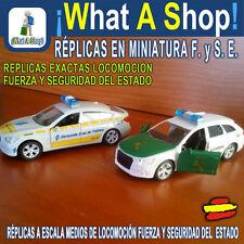 Coche Policía Nacional, Local, Guardia Civil, DGT, Réplicas a Escala 1:43 Acero.