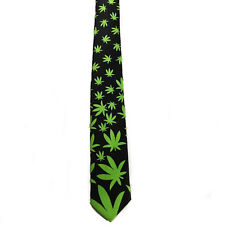 "Men Boy Unisex Mary Jane Weed Style Skinny Slim Retro Tie 2.5"" Wide Thin Necktie"