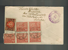 1922 Przedecz Poland Registered Cover to USA