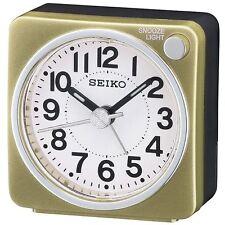 Seiko Bedside Analogue Alarm Clock - Gold