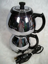 VINTAGE SUNBEAM COFFEEMASTER CHROME VACUUM COFFEE MAKER MODEL C30A