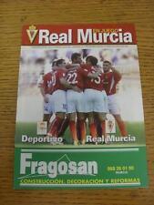 01/11/2003 Real Murcia v Deportivo La Coruna  . Item in very good condition, unl