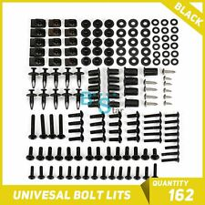 Black 162Pcs Fairings Bolt Kit Fastener Nuts Screws for APRILIA RS125 RS250