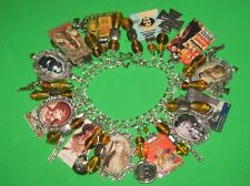 """ANNIE GET YOUR GUN""-ANNIE OAKLEY  OOAK ALTERED ART STATEMENT CHARM BRACELET"