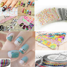 WATER TRANSFER STICKERS RETRO FLOWER NAIL ART STICKER DECALS TIPS 3D DECORATION
