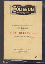Gay Deceivers Program Charlotte Greenwood Claire Luce Coliseum Charing Cross