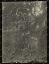 vintage photo-Cute Boy-Biker -Man-Motorrad-Zündapp-