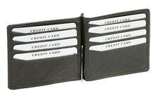 Dollar Clip Geldscheinklammer Money Clip Geldklammer LEAS in Echt-Leder, schwarz
