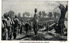 1914 Galizien: Uebergang oesterreich-ungarischer Truppen ueber die Wisloka * WW1
