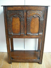 C19th Victorian Gothic Carved Oak Cabinet [pot/stand/cupboard/sideboard/table/]