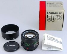 MINT in Original Box Canon New FD 50mm f/1.4 MF Standard Lens w/ Hood From Japan