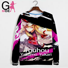 New Anime TouHou Project Cosplay Sweater Unisex Casual Sweatshirts Coat Jacket #