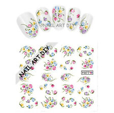 Tattoo adesivi per unghie-nail art water transfer stickers-BUY 3 GEI 1 IN FREE!!
