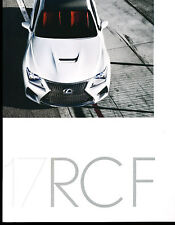 2017 Lexus RCF 30-page Original Car Sales Brochure Catalog
