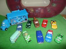 Disney Cars Carrying Case Race Track King Hauler Playset Diecast Huge Lot