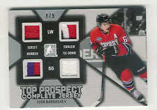 2014-15 IN THE GAME DRAFT PROSPECTS COMPLETE JERSEY SILVER IVAN BARBASHEV 8/9
