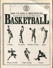 High School Basketball Program Illinois 1991 Tournament Boys AA
