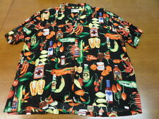 Vintage Paradise Found Hot Pepper Sauce Made in Hawaii Hawaiian Shirt
