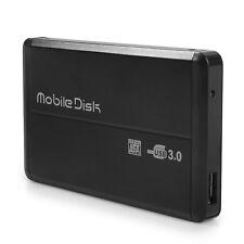 2.5 Pouces USB3.0 Boîtier Externe Housse Coque NOIR pour SATA HDD Disque Dur