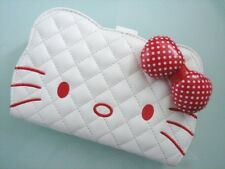 Hello Kitty White MID Wallet Purse Coins Bag ~ NEW Free Shipping