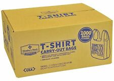 New T-Shirt Carry Out Thank You Gracias Bags 1000 Count Recyclable Grocery