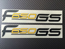 bmw f650gs decal / stickers / black/yellow or silver/yellow