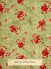 Christmas Hot Chocolate Candy Cane Toss Cotton Fabric Wilmington Prints YARD