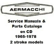 30+ Aermacchi 2 stroke motorcycle service manuals & parts catalogs 1965 - 1978