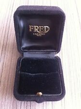 FRED : Old VINTAGE BOITE ECRIN Ring Box POUR BAGUE  BIJOUX Swiss Made
